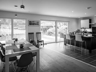 Nightingale Road The Chase Architecture Modern dining room Engineered Wood White