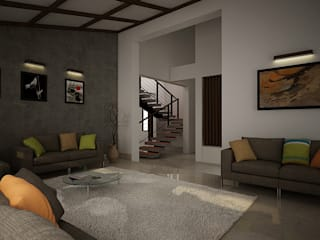Rafiq Residence Modern living room by dd Architects Modern