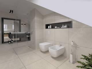 ŁAZIENKA NA PODDASZU Nowoczesna łazienka od The Vibe Nowoczesny