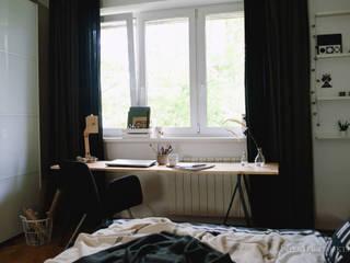 Scandinavian style study/office by ИНТЕРЬЕР-ПРОЕКТ.РУ Scandinavian