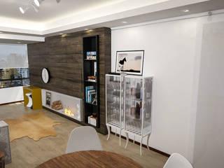 Apartamento Jovem Solteiro Salas de estar modernas por Cris Manzolli Arquiteta Moderno