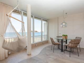 Balcon, Veranda & Terrasse méditerranéens par Pia Estudi Méditerranéen