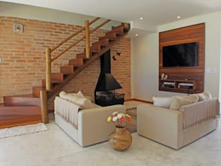 RAC ARQUITETURA Living room Bricks White