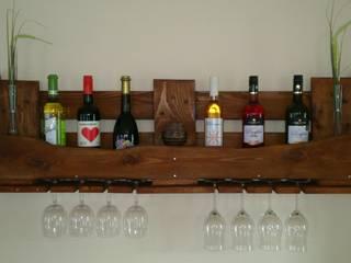 Weinregal aus Europalette von Jolandes Holzbuedchen Ausgefallen