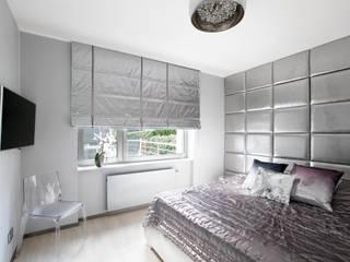 TG STUDIO Camera da letto moderna Tessuti Metallizzato/Argento