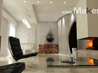 Progetto Soggiorno moderno di Makestudio_rendering_lab Moderno