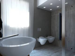 Progetto Bagno moderno di Makestudio_rendering_lab Moderno