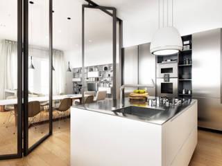 AUS 01 Apartment no.3 in Turin 3Dedintorni KücheSpülen und Armaturen