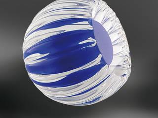 Bouton de meuble Alberto couleurs cannelé par Les Verreries de Bréhat Moderne