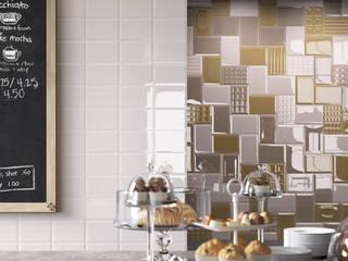 Un toque retro en los azulejos de la cocina Cocinas de estilo moderno de Azulejos Peña s.l. Moderno