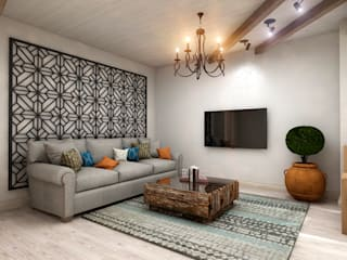 Mediterranean style living room by Студия дизайна 'New Art' Mediterranean