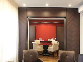 bilune studio Eclectic style study/office