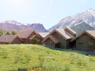 SAN SICARIO CHALET RENDERING 3Dedintorni Rustikale Häuser