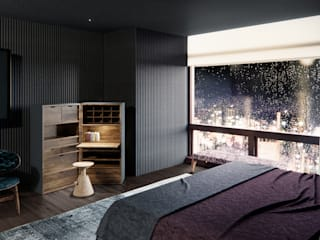 de-cube Eclectic style bedroom