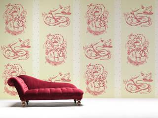 Papeles pintados de Sergio Mora THE WALLERY Paredes y suelosPapeles pintados Rojo