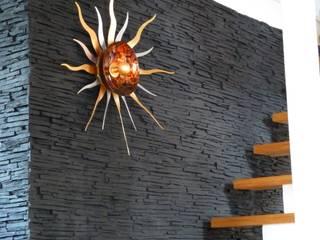 Rimini Baustoffe GmbH Mediterranean corridor, hallway & stairs