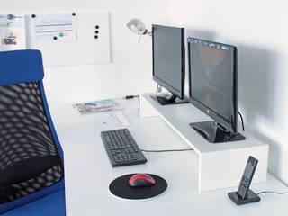 Schreibtischuntersatz DESKTOPP XXL in weiß : skandinavische Arbeitszimmer von NSD New Swedish Design GmbH