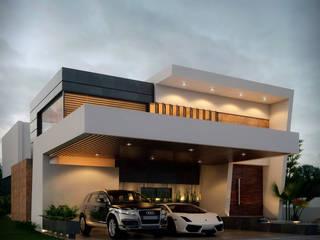 CASA: AV: Casas de estilo  por M+M CONSTRUCCIONES MARIN