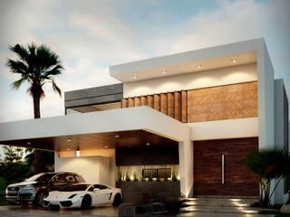 CASA :AV Casas modernas de M+M CONSTRUCCIONES MARIN Moderno