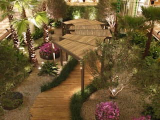 Praça das Emoções Shopping Iguatemi: Jardins  por BAMBU CARBONO ZERO,Minimalista Bambu Verde