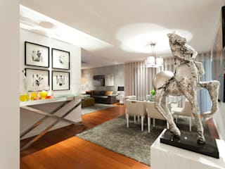 Elegant City Apartment: Salas de jantar  por EMME Atelier de Interiores
