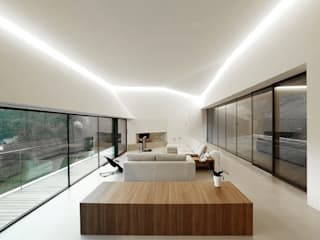 Modern living room by Resin srl Modern
