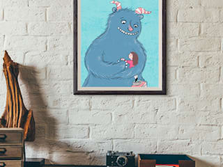 http://de.dawanda.com/product/83980751-druck-din-a4-monsterliebe:   von Tessa Rath Illustration