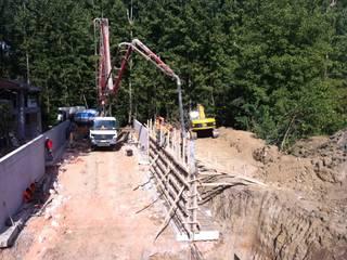 Derin İnşaat ve Mimarlık – Alt Geçit - Kaba İnşaat / Subway - Rough Construction: endüstriyel tarz tarz Garaj / Hangar