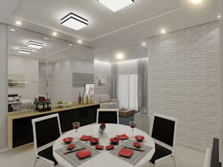 Modern Dining Room by Merlincon Prestes Arquitetura Modern