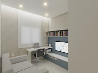 modern Study/office by Merlincon Prestes Arquitetura
