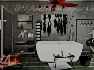 Bathroom by GNAdesigngroup, Industrial