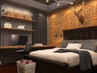 Industrial style bedroom by Taller 03 Industrial Bricks