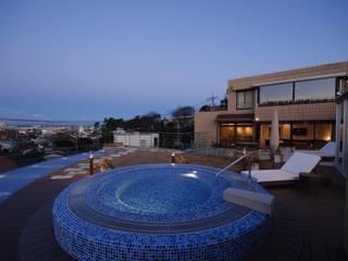 River Views House モダンデザインの テラス の 株式会社 中村建築設計事務所 モダン