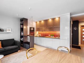 Realizacja projektu fragmentu mieszkania 30 m2 w Krakowie: styl , w kategorii Kuchnia zaprojektowany przez Lidia Sarad