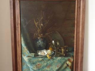 Diversen kleine houten meubels en objecten van Atelier de Wig Scandinavisch