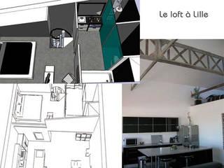 Aménagement d'un loft à Lille:  de style  par Gaelle Saint Clair