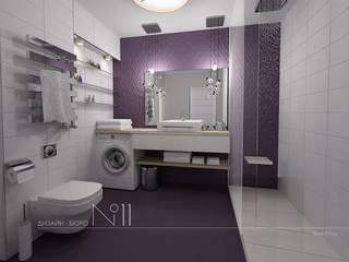 Квартира-студия в современном стиле: Ванные комнаты в . Автор – Дизайн-бюро № 11, Эклектичный