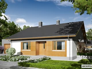 PROJEKT DOMU IWO G1 Nowoczesne domy od Pracownia Projektowa ARCHIPELAG Nowoczesny