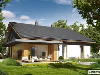 PROJEKT DOMU IWO G1: styl , w kategorii Domy zaprojektowany przez Pracownia Projektowa ARCHIPELAG,Nowoczesny