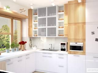 PROJEKT DOMU IWO G1: styl , w kategorii Kuchnia zaprojektowany przez Pracownia Projektowa ARCHIPELAG,Nowoczesny