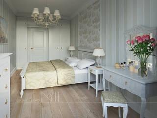 Квартира-гарсоньерка: Спальни в . Автор – Дизайн-бюро № 11, Эклектичный