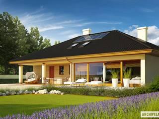 PROJEKT DOMU ALAN IV G2 : styl , w kategorii Domy zaprojektowany przez Pracownia Projektowa ARCHIPELAG,Nowoczesny