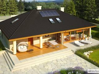 PROJEKT DOMU ALAN IV G2 Nowoczesne domy od Pracownia Projektowa ARCHIPELAG Nowoczesny