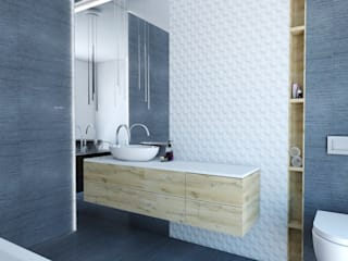 Banheiros escandinavos por FOORMA Pracownia Architektury Wnętrz Escandinavo