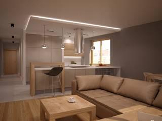 Mieszkanie Karoliny: styl , w kategorii Salon zaprojektowany przez NowaConcept