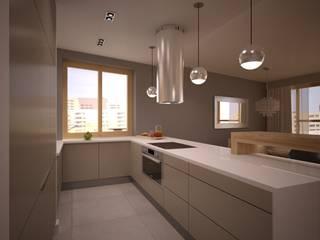 Mieszkanie Karoliny: styl , w kategorii Kuchnia zaprojektowany przez NowaConcept