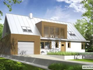 PROJEKT DOMU EX 3 G1 Nowoczesne domy od Pracownia Projektowa ARCHIPELAG Nowoczesny