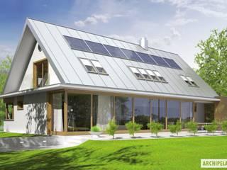 PROJEKT DOMU EX 3 G1: styl , w kategorii Domy zaprojektowany przez Pracownia Projektowa ARCHIPELAG,Nowoczesny