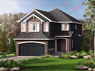 3D Exterior Renderings for Country Homes Modern houses by FUSSON STUDIO Modern
