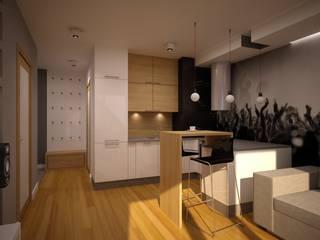 Mieszkanie Kamila: styl , w kategorii Salon zaprojektowany przez NowaConcept